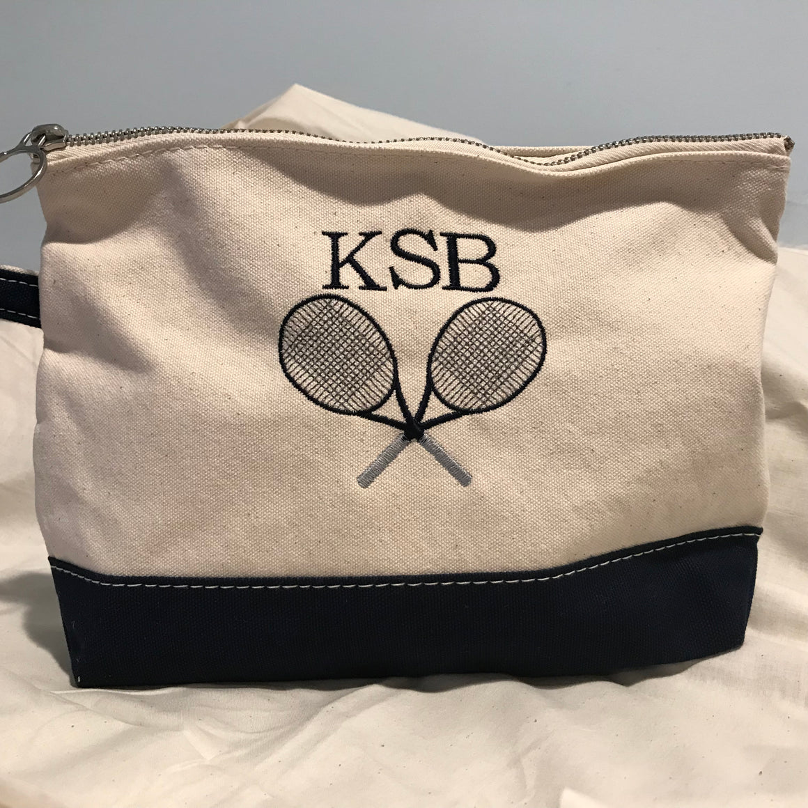 Classic Canvas Tennis Cosmetic Bag