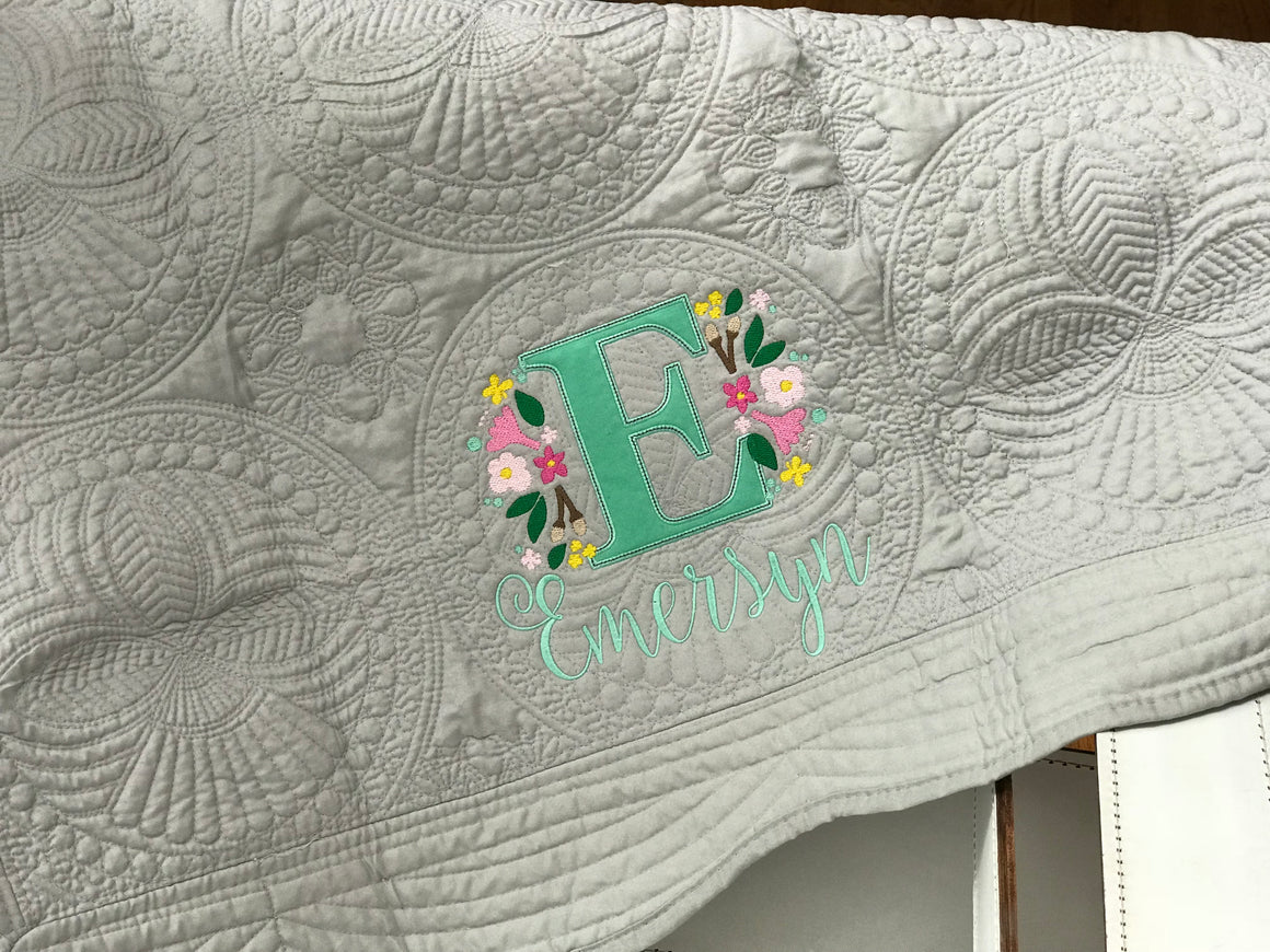 Personalized Christening Baby Quilt / Blanket