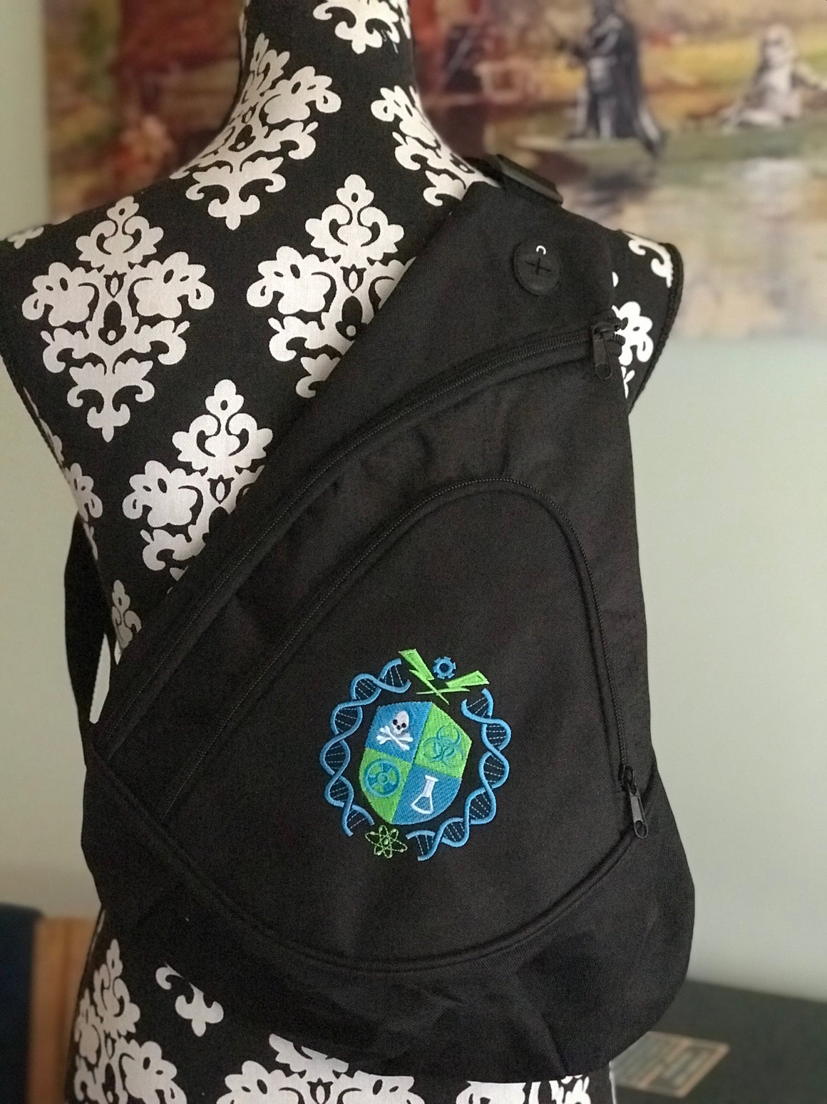 Geeky Crossbody Sling Bag Backpack