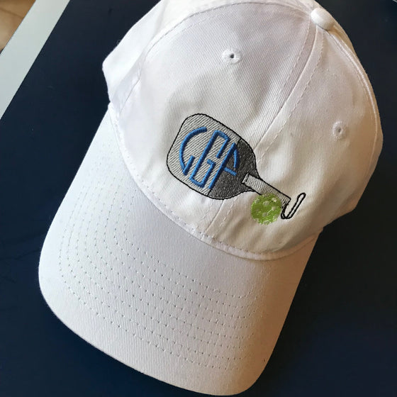 Monogrammed Pickleball Baseball Hat