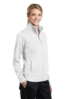 Womens Moisture-Wick Fleece Full-Zip Tennis Golf Jacket