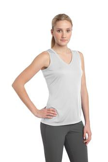 Women's Sleeveless V Neck Sports Tennis Tee