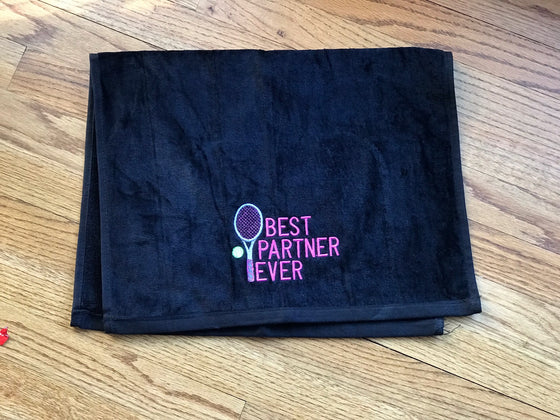 BEST PARTNER EVER - Tennis Racquet Sports Towel