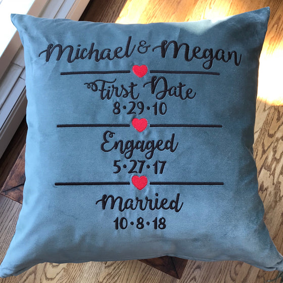 Wedding Anniversary Pillows