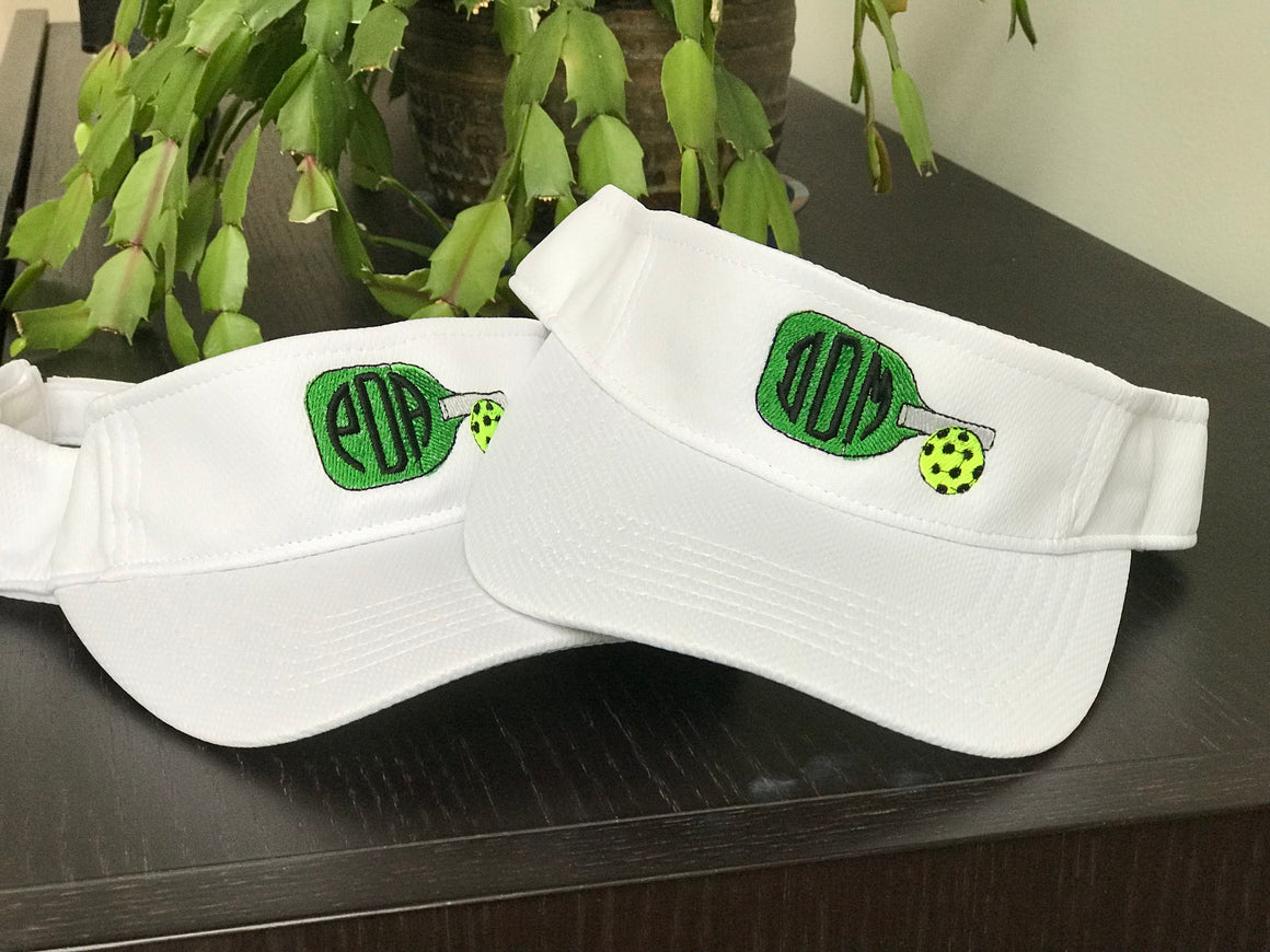 Monogrammed Pickleball Visor