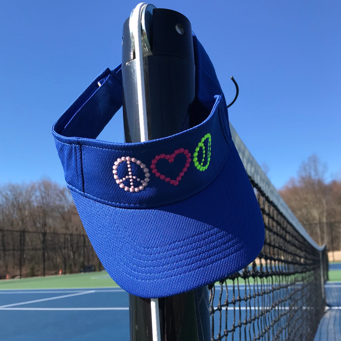 Peace, Love Tennis Visor