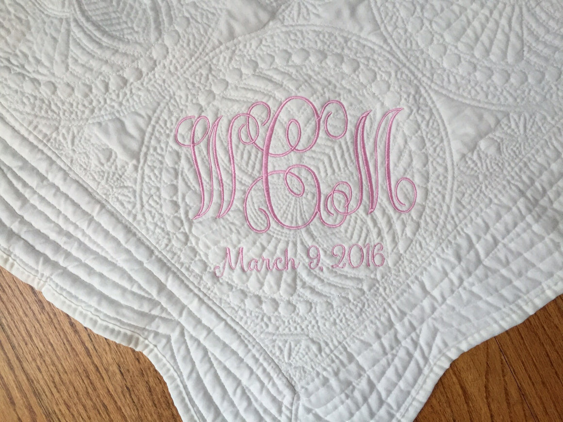 Order for Lisa - Personalized Baby Quilt / Blanket
