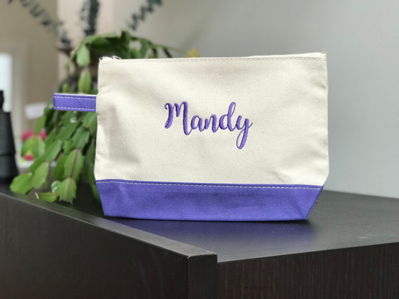 Classic Canvas Toiletry Cosmetic Bag