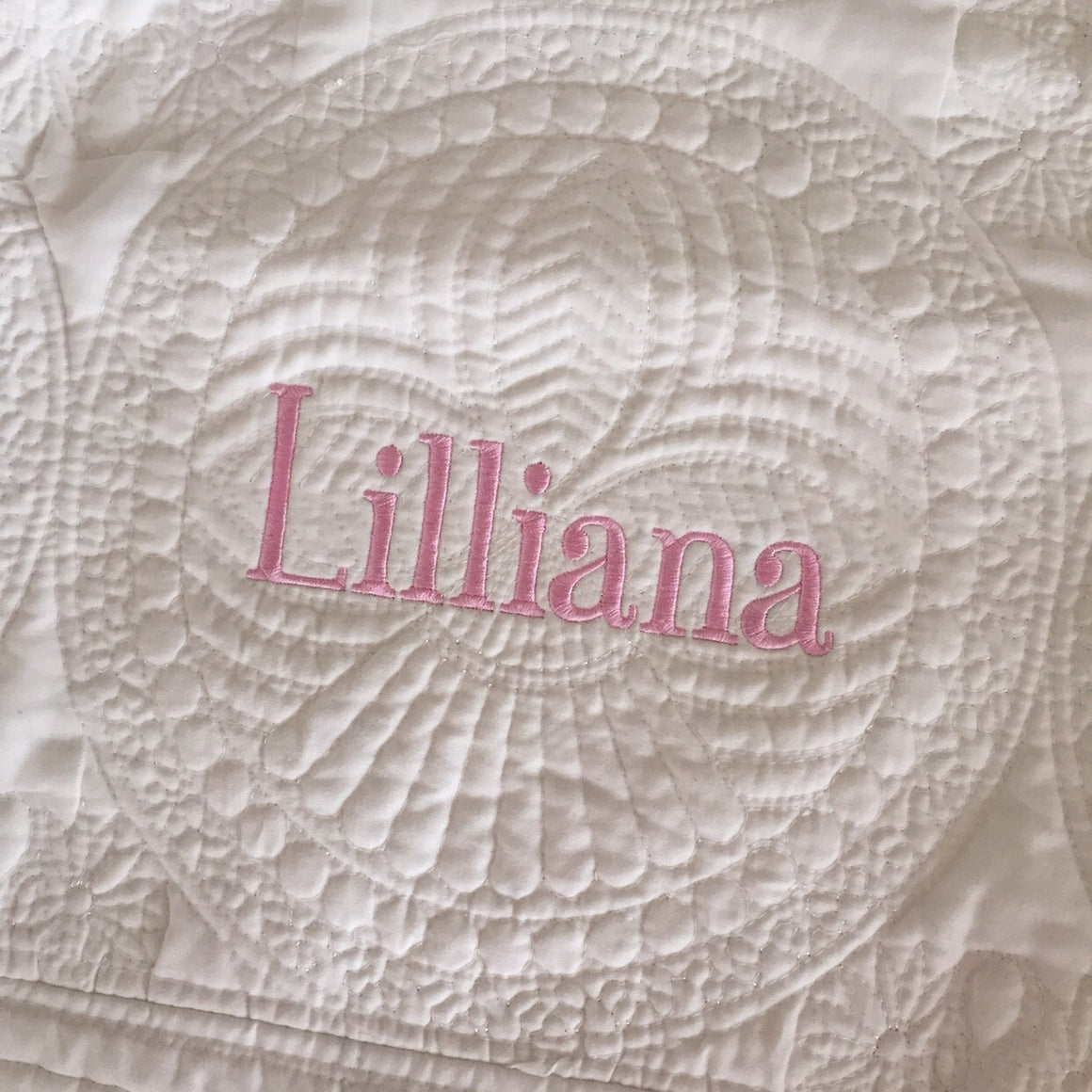 Personalized Baby Quilt / Blanket (Name or Monogram only)