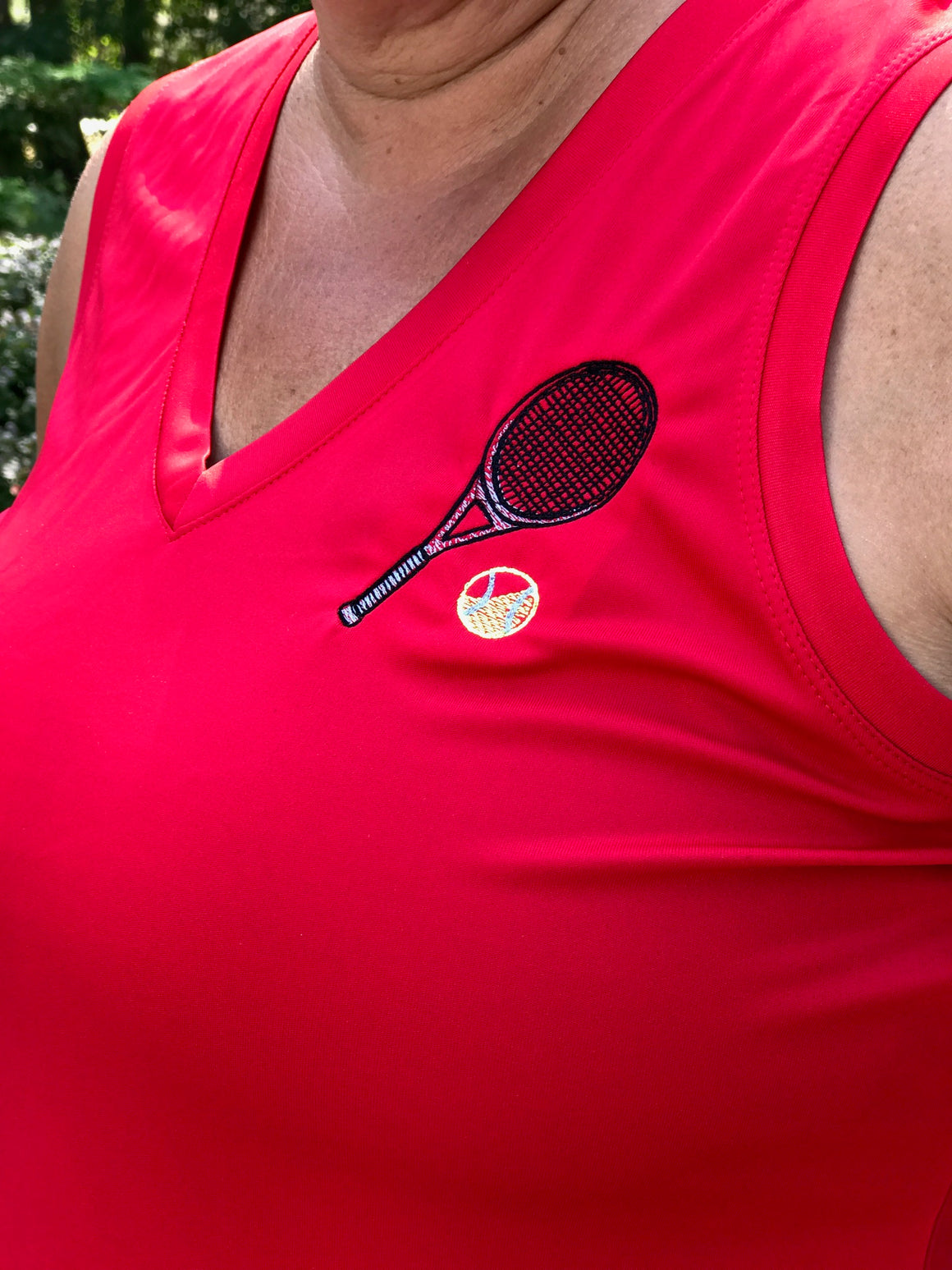 Tennis Performance Tank Crossed Racquets