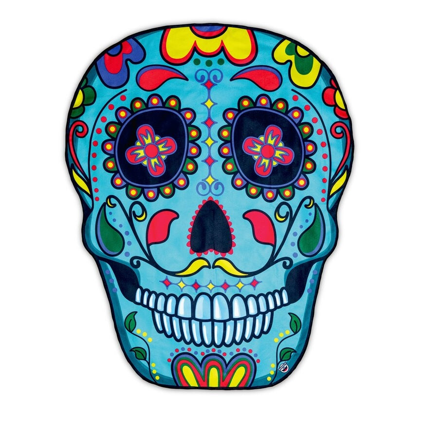 Personalized Sugar Skull Beach Towel