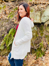The Snowy Day Open Front Cardigan