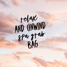 Relax and unwind spa gift bag!