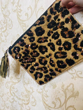 Wild Roar Sequin Clutch