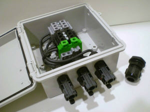 2, 3 or 4-String Pre-wired Solar Power Combiner / Terminal Box