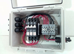 3-String Pre-wired MC4 Solar Combiner Box -150V Breakers