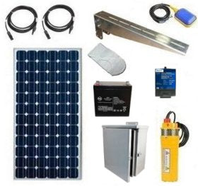 Solar Powered Well Pump Kit with Battery Backup