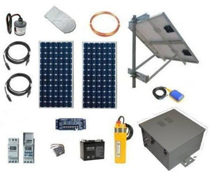 Solar Powered Deep Well Pump Kit with Battery Backup