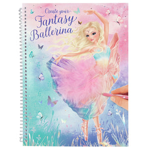 CUADERNO CREA TU FANTASY MODEL BALLETT  TOP MODEL 11051