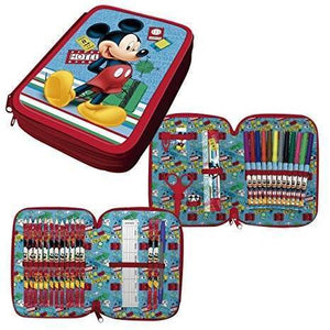 ESTUCHE PLUMIER DOBLE MICKEY MOUSE WD11422