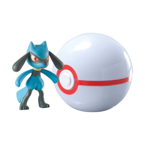 POKEBOLA POKEMON RIOLU + HONOR BALL TOMY T18872