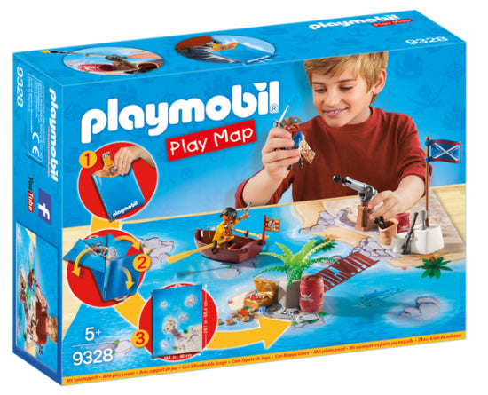 PLAY MAP PIRATAS PLAYMOBIL 9328
