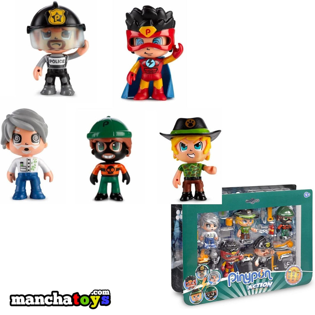 PACK 5 FIGURAS PINYPON ACTION