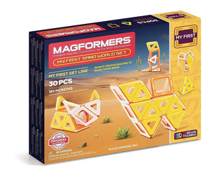 SET DE 30 PIEZAS MAGNETICAS MY FIRST SAND WORLD MAGFORMERS 702010
