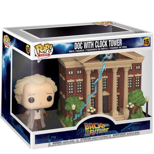 FUNKO POP DOC BROWN CON TORRE RELOJ REGRESO AL FUTURO