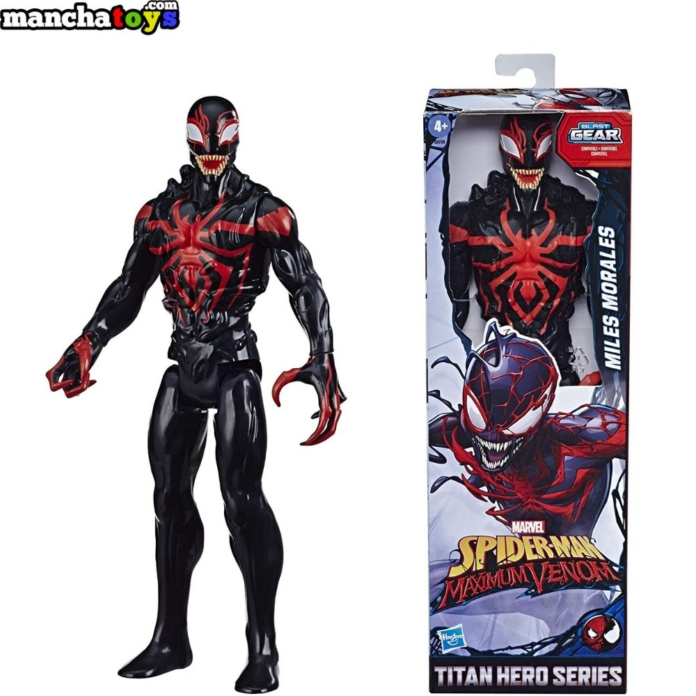 FIGURA MILES MORALES 30 CM SPIDERMAN MAXIMUM VENOM BLAST GEAR