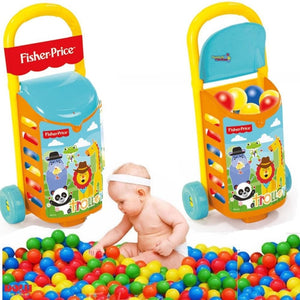 CARRO-TROLLEY CON BOLAS DOLU FISHER PRICE  55 CM. ARRASTRE