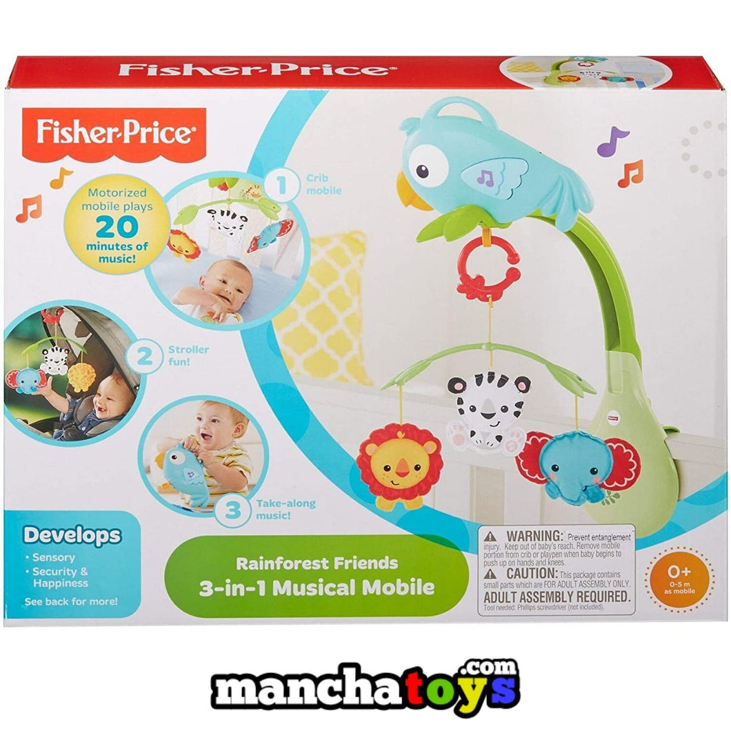 CARRUSEL 3 EN 1 BABY GEAR FISHER PRICE MOVIL MUSICAL