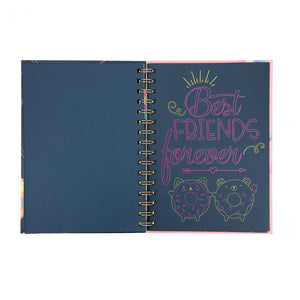 DOODLE BOOK NEON CON SET DE 3 ROTULADORES DE GEL TOP MODEL (10273)