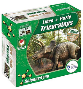 LIBRO + PUZZLE TRICERATOPS SCIENCE4YOU 811640