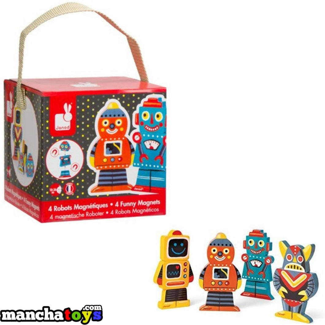 4 ROBOTS MAGNETICOS JANOD