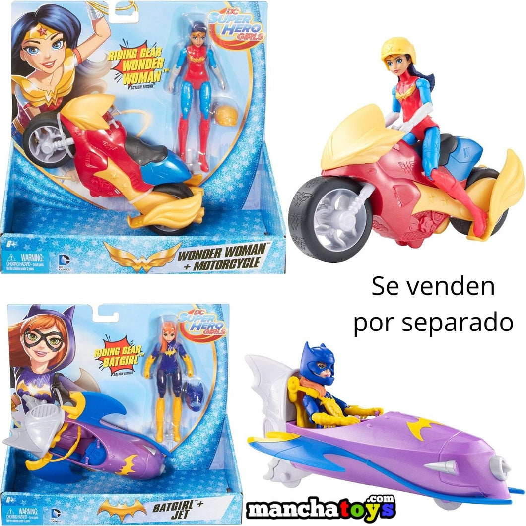 MUÑECA CON MOTO SUPER HERO GIRLS
