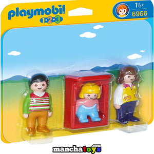 PADRES CON BEBE PLAYMOBIL 123 (6966)