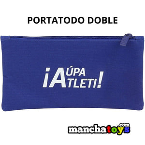 ESTUCHE PORTATODO DOBLE ATLETICO MADRID