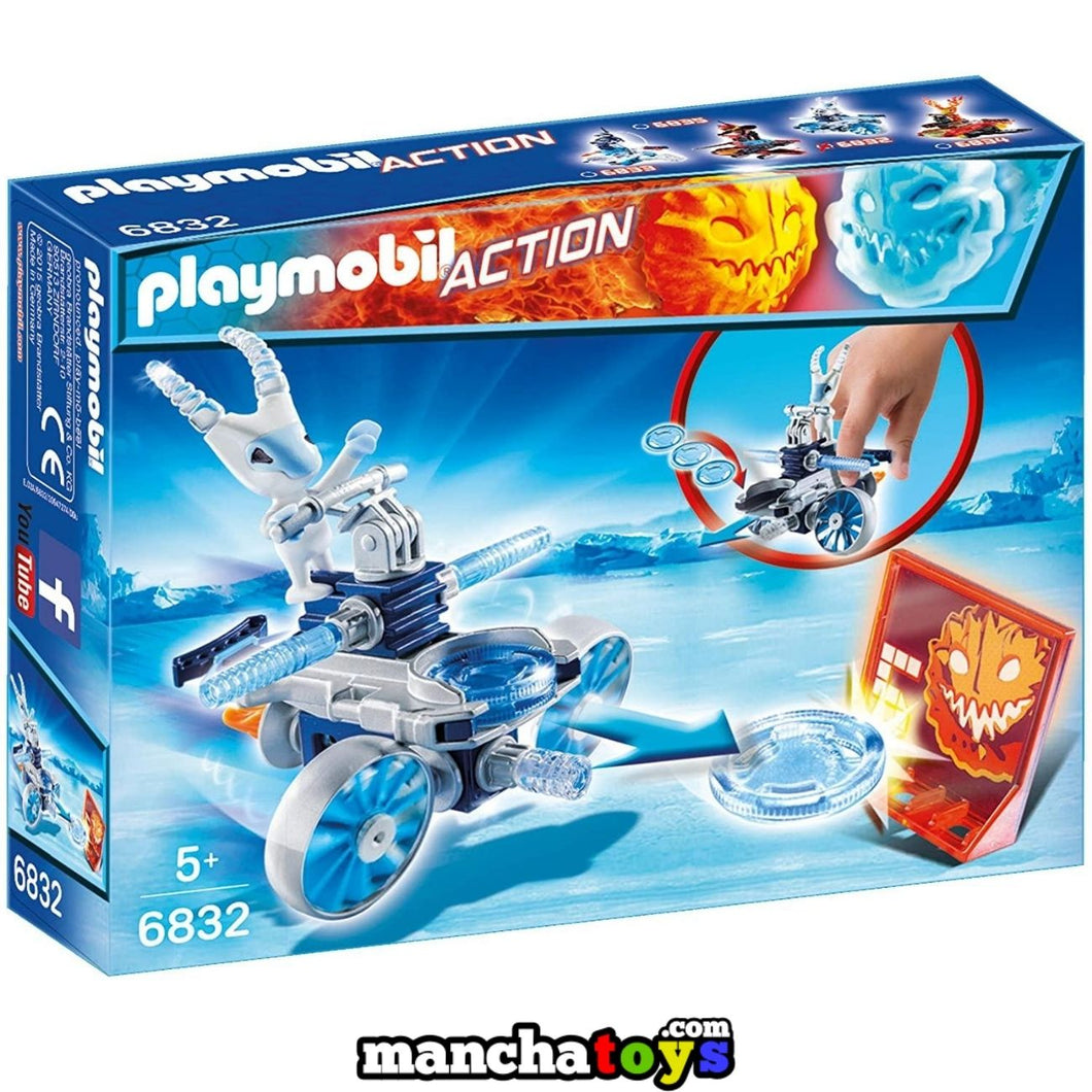 PROSTY Y EL DISPARADOR DE DISCOS PLAYMOBIL (6832)