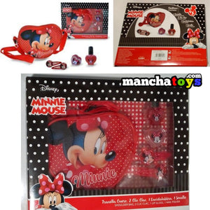 BANDOLERA Y ACCESORIOS MINNIE MOUSE (SET DE REGALO)