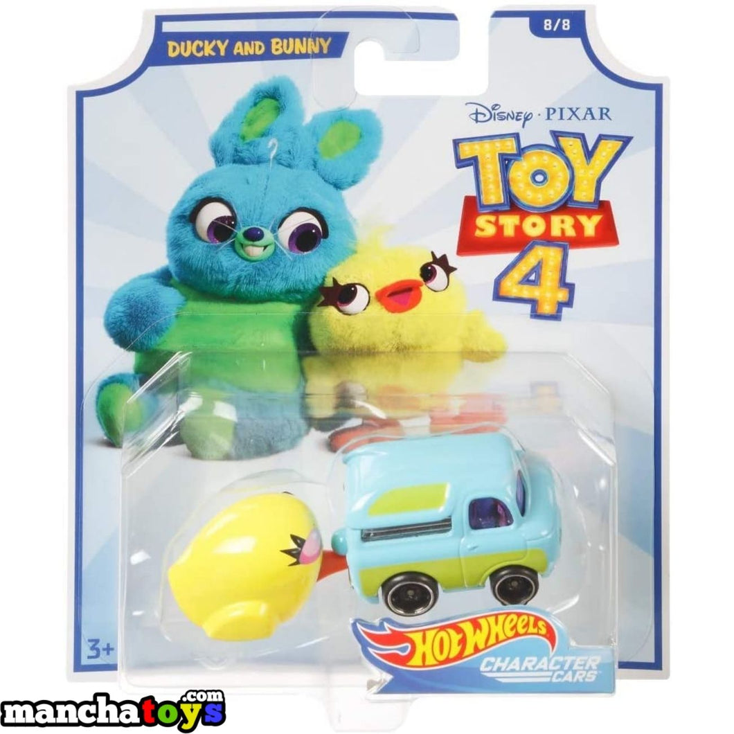 COCHE DUCKY AND BUNNY TOY STORY 4 HOT WHEELS
