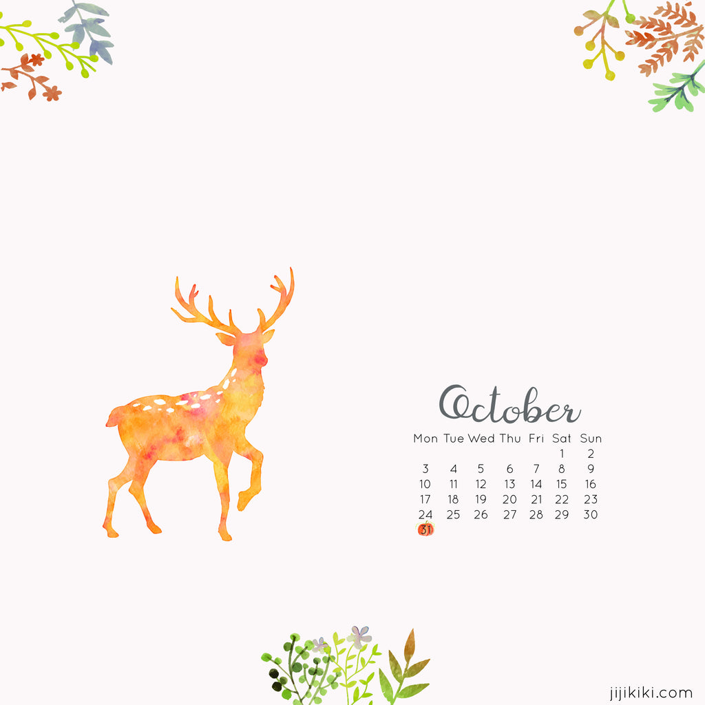 October 2016 Desktop Calendars