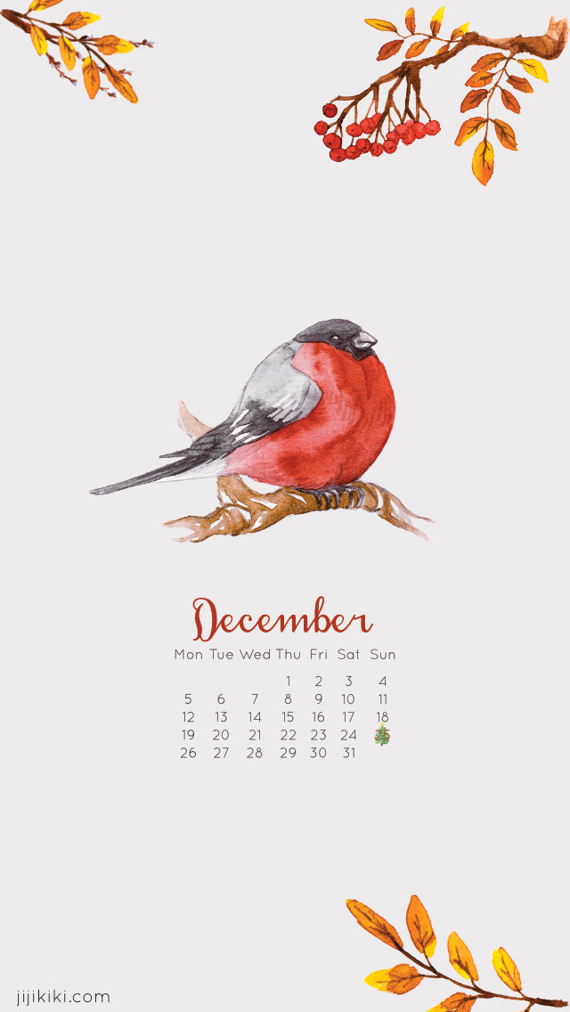Free December 2016 Phone iphone Android Calendar Wallpaper