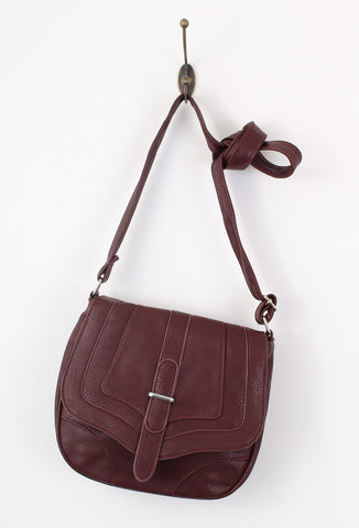 Burgundy Brown Small Cross Body Bag