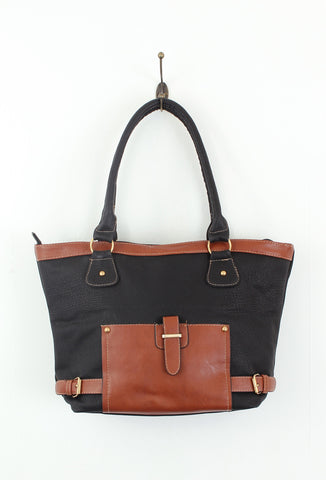 Brown Black Retro Tote Bag