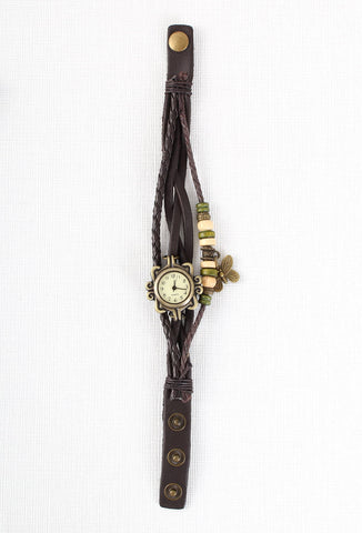 Vintage Style Butterfly Wrap Watch