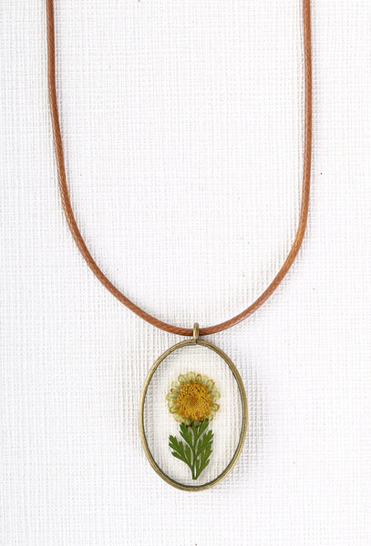 Miniature Botanist Necklace in Yellow
