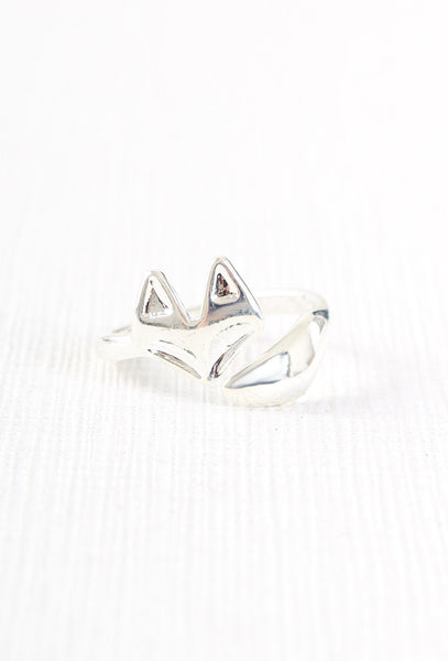 Fox Wrap Ring Silver