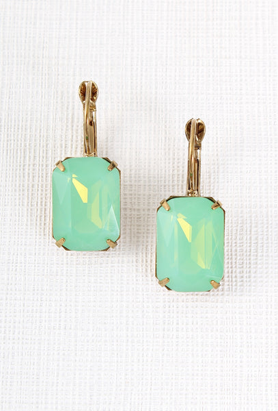 Vintage Glamour Earrings in Green