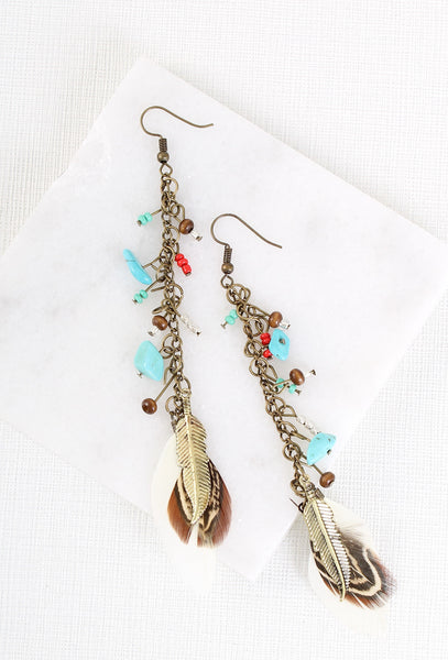 Feather and a Day Boho Earrings